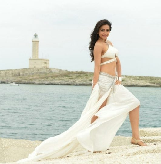 rakul preet singh hot images in white dress
