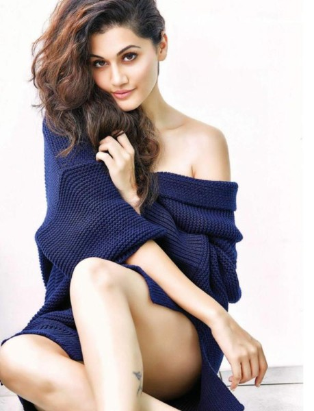 Taapsee Pannu sexy legs show pics