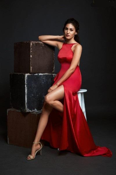 amyra dastur sexy photo in red dress
