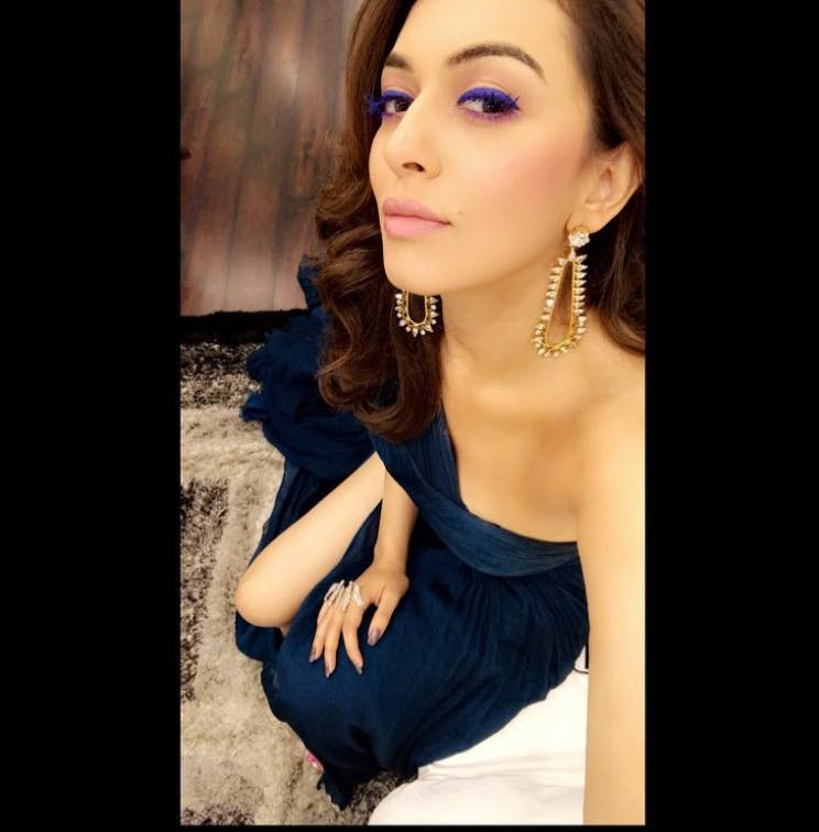 Hansika Motwani boobs show selfie