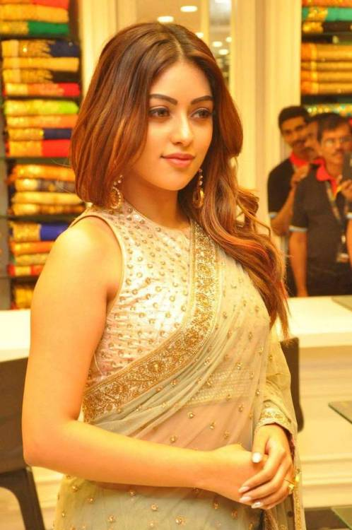 anu emmanuel sexy looking in saree