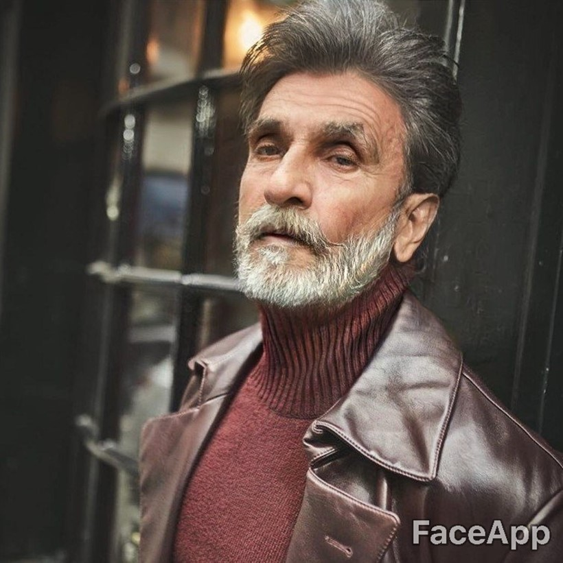 Bollywood Celebrities ranveer singh faceapp old photo